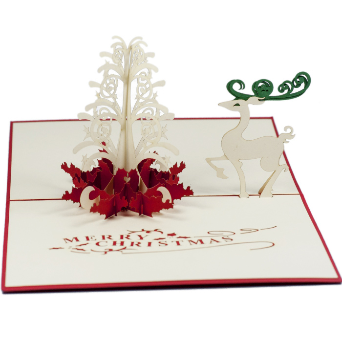 Christmas Pop Up Cards.Xmas Reindeer Pop Up Card Charming Cards Pop Up Greeting Cards Australia